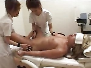 Three White Girls in Japanese Massage Parlor (part #1)